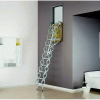Loft ladders to the vertical wall