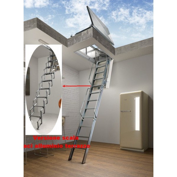 Loft Ladder Aluminum Roof FIRENZE